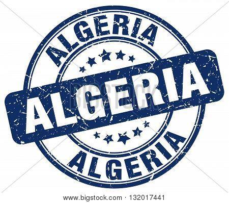 Algeria blue grunge round vintage rubber stamp.Algeria stamp.Algeria round stamp.Algeria grunge stamp.Algeria.Algeria vintage stamp.
