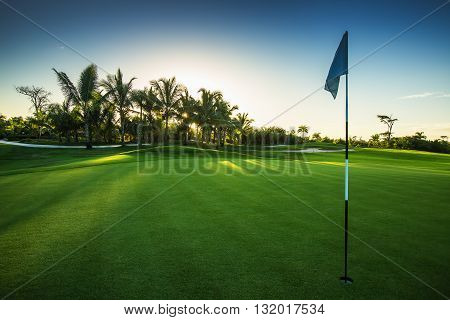 Golf course in the countryside, Dominican Republic
