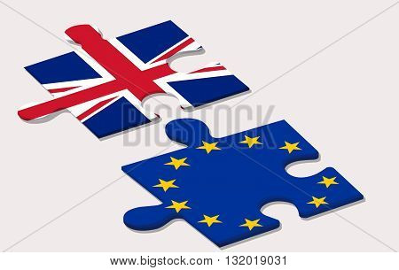 two piece of puzzle and eu referendum in united kingdom poster