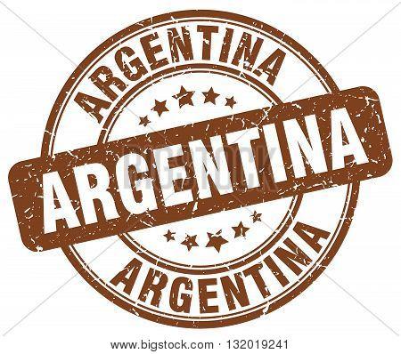 Argentina brown grunge round vintage rubber stamp.Argentina stamp.Argentina round stamp.Argentina grunge stamp.Argentina.Argentina vintage stamp.