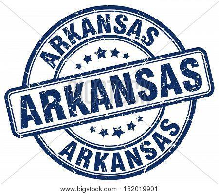 Arkansas blue grunge round vintage rubber stamp.Arkansas stamp.Arkansas round stamp.Arkansas grunge stamp.Arkansas.Arkansas vintage stamp.