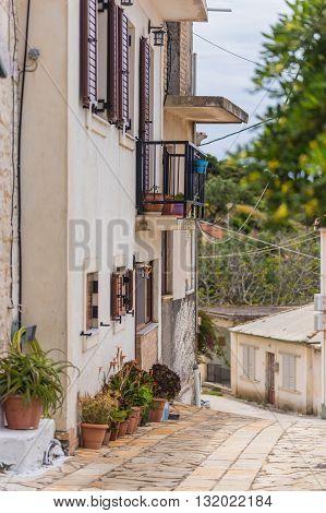 Street in Greece on the island Zakynthos