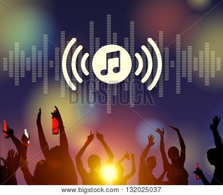 Melody Music Wireless Sound Technology Concept