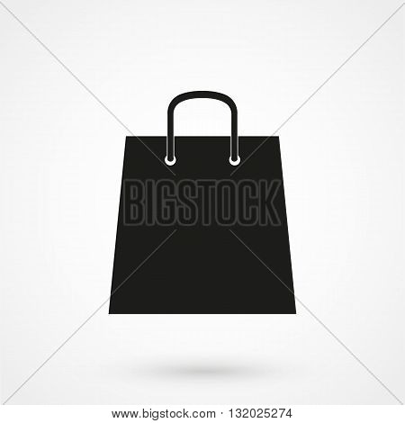 Shoping Bag Icon Black On White Background