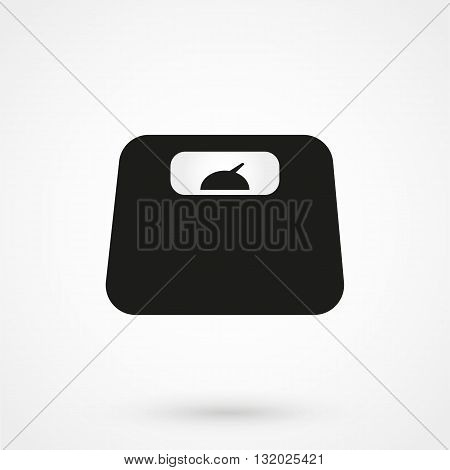 Weighing-machine Icon Black On White Background