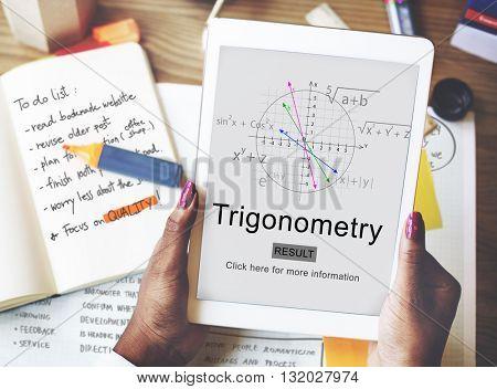 Trigonometry Algebra Equation Knowledge Learn Concept