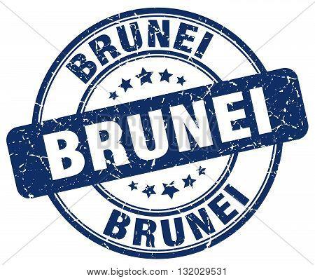 Brunei blue grunge round vintage rubber stamp.Brunei stamp.Brunei round stamp.Brunei grunge stamp.Brunei.Brunei vintage stamp.