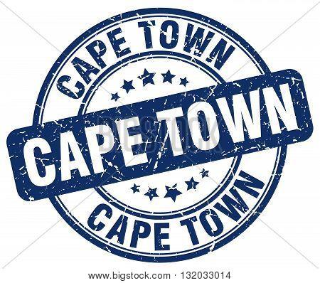 Cape Town blue grunge round vintage rubber stamp.Cape Town stamp.Cape Town round stamp.Cape Town grunge stamp.Cape Town.Cape Town vintage stamp.