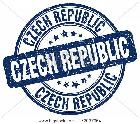 Czech Republic blue grunge round vintage rubber stamp.Czech Republic stamp.Czech Republic round stamp.Czech Republic grunge stamp.Czech Republic.Czech Republic vintage stamp.