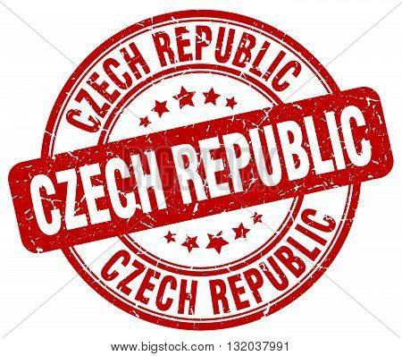 Czech Republic red grunge round vintage rubber stamp.Czech Republic stamp.Czech Republic round stamp.Czech Republic grunge stamp.Czech Republic.Czech Republic vintage stamp.