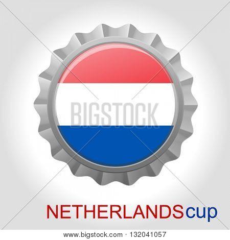 Netherlands flag cup
