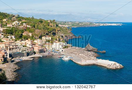 The small sea village of Santa Maria la Scala (near Catania) in Sicily