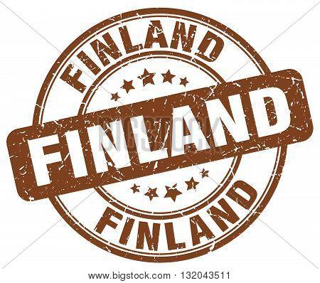 Finland brown grunge round vintage rubber stamp.Finland stamp.Finland round stamp.Finland grunge stamp.Finland.Finland vintage stamp.