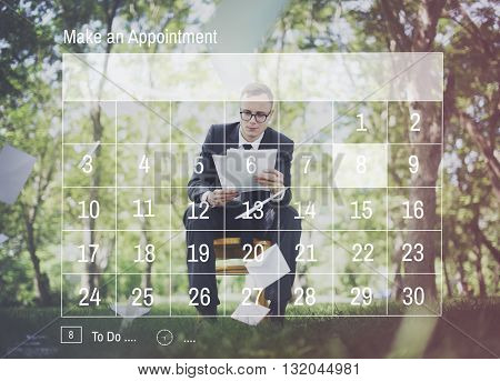 Calendar Reminder Priority Note Date Concept