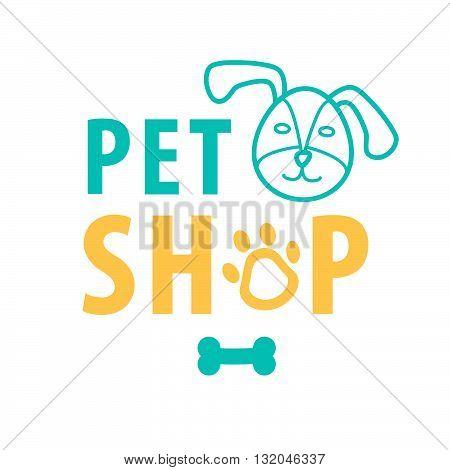 Dog pet shop background for on line business