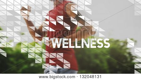 Healthy Lifestyle Wellbeing Live Well Healthcare Wellness Concept poster