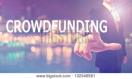 Crowdfunding Concept With Businessman