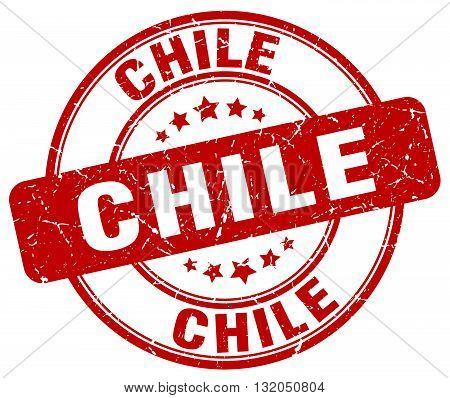 Chile red grunge round vintage rubber stamp.Chile stamp.Chile round stamp.Chile grunge stamp.Chile.Chile vintage stamp.