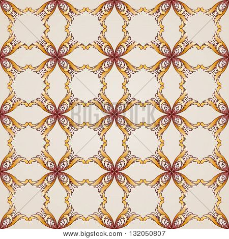 Seamless abstract floral pattern in the form of four end-flowers