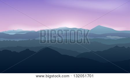 illustration of beautiful calm weater in mountains