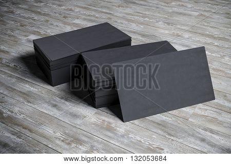3d blank business card