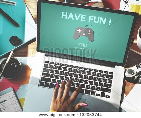 Gaming Entertainment Fun Hobby Digital Technology Concept