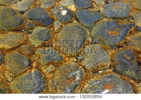 stones in water - abstract natural background