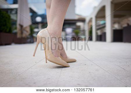 Beautiful girl on the street