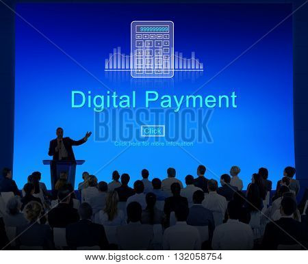 Digital payment Consumerism Merchandise Card Concept