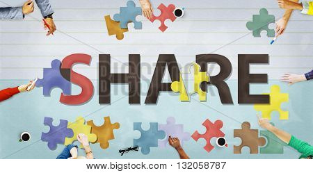Share Distribution Exchange Communication Connection Concept