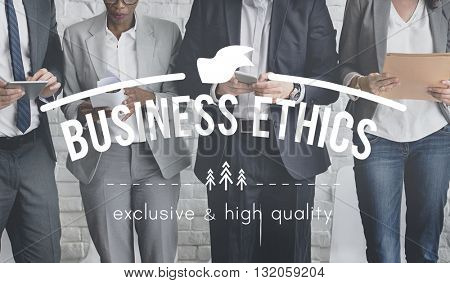 Business Ethics Norms Responsibility Corporate Concept