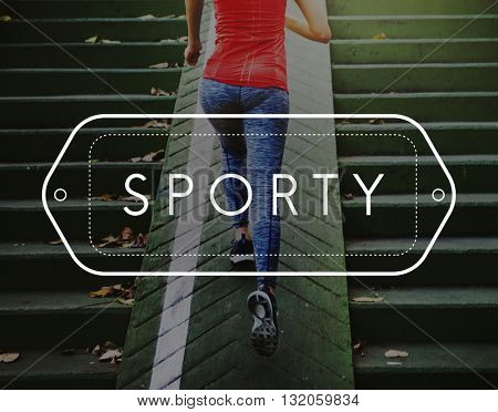 Sporty Exercise Action Active Athlete Leisure Concept