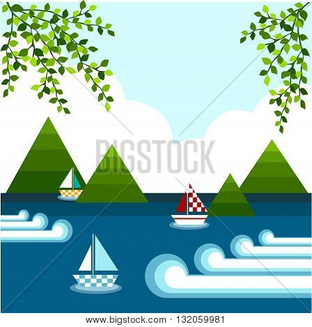 background of sea and waves in summer