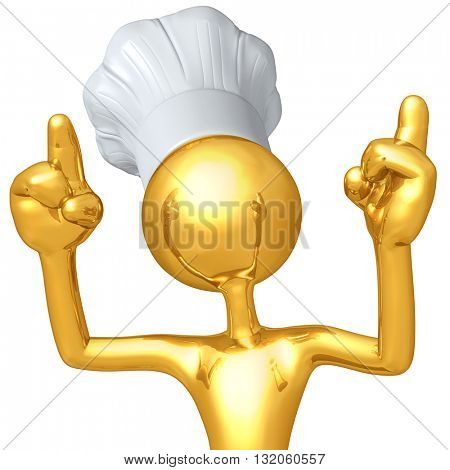Chef Character 3D Illustration