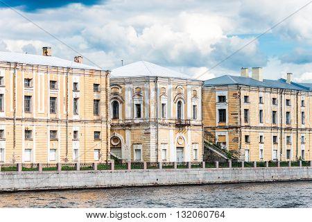 Facade Of Historical Building In St. Petersburg