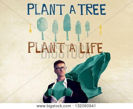 Plant A Tree Life Ecology Concept