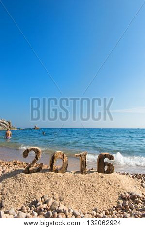 Beach with 2016 in numbers