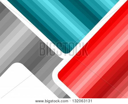 Abstract gradation futuristic multicolored template background. Gray blue red editable vector illustration with copy space