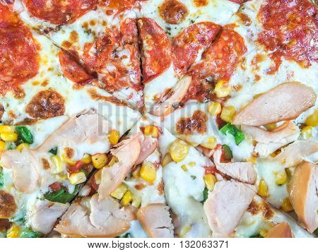 Smoked Chicken And Salami Pizza