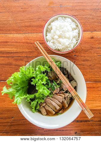 Noodle Duck And Rice