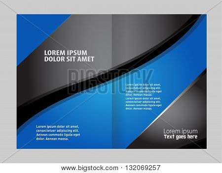Brochure design two pages a4 template. Vector illustration