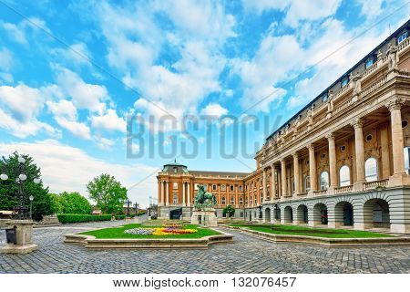 Budapest Royal Castle -courtyard Of The Royal Palace In Budapest. Hungary.
