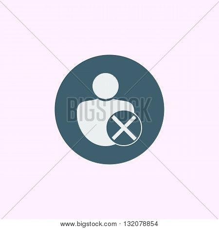 User Cancel Icon In Vector Format. Premium Quality User Cancel Symbol. Web Graphic User Cancel Sign
