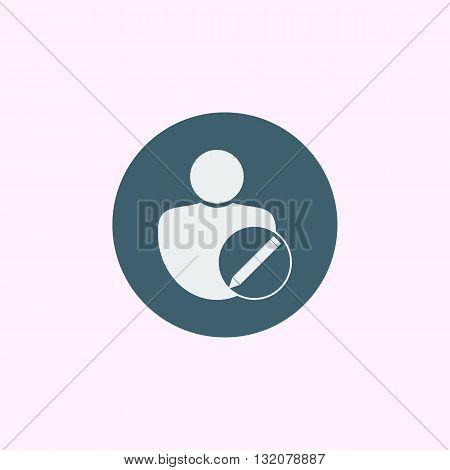User Edit Icon In Vector Format. Premium Quality User Edit Symbol. Web Graphic User Edit Sign On Blu