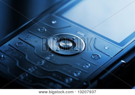 Mobile phone close-up shot