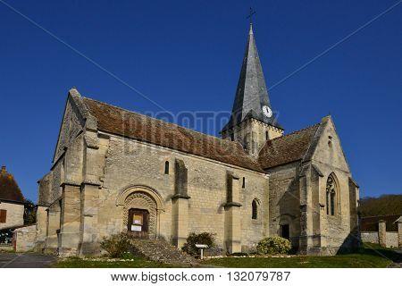 Brignancourt France - march 14 2016 : the saint Pierre and saint Etienne church