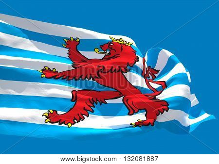 Blason Luxembourg wave flag HD Grand Duchy of Luxembourg