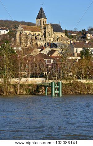 Triel sur Seine France  the gothic and renaissance Saint Martin church