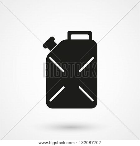 Icon Of Petrol Jerrican Black On White Background