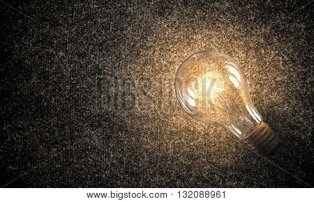 Light bulb on material surface
